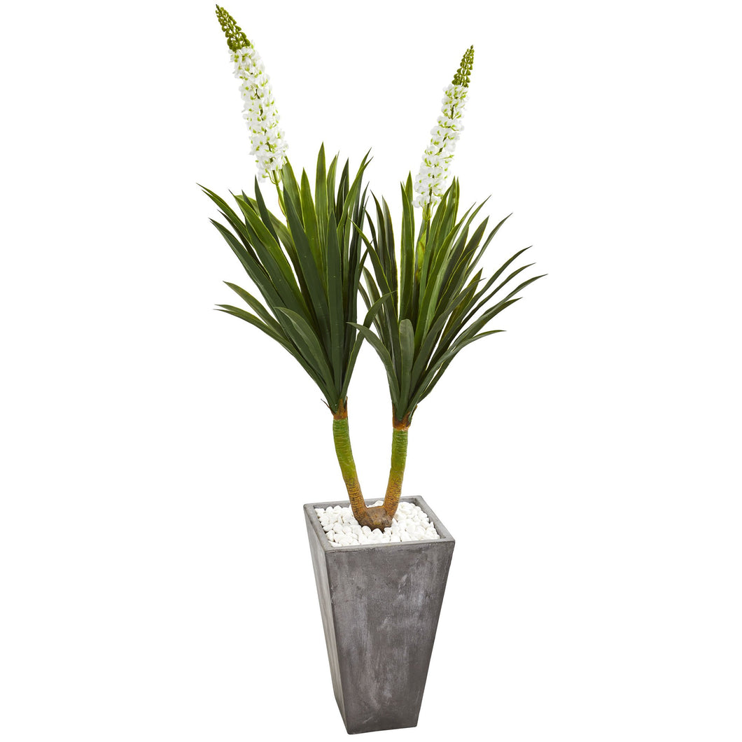 6' Yucca Artificial Plant in Cement Planter