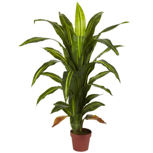 4' Dracaena Silk Plant (Real Touch)