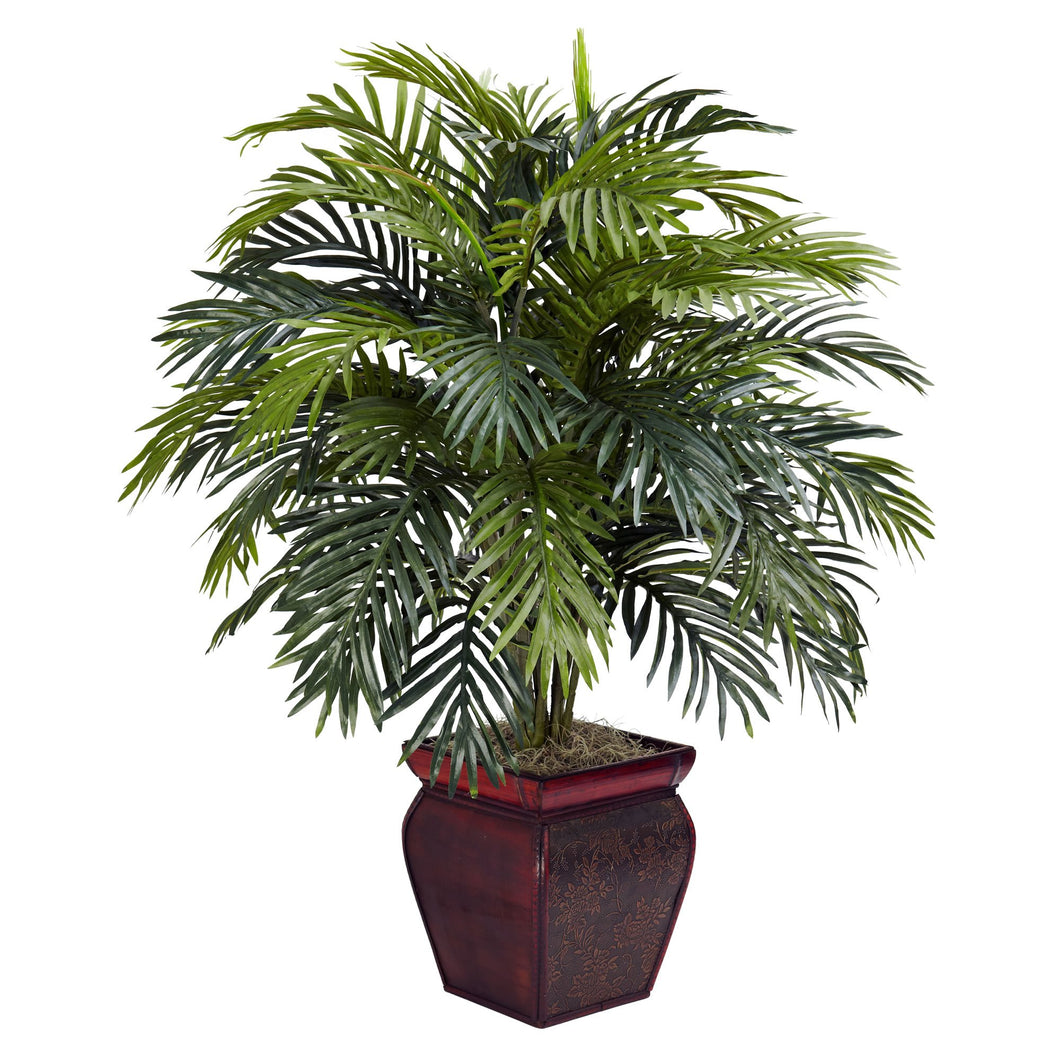 Areca w/Decorative Planter Silk Plant