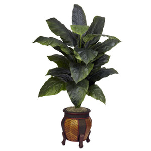 Giant Spathyfillum w/Decorative Vase Silk Plant
