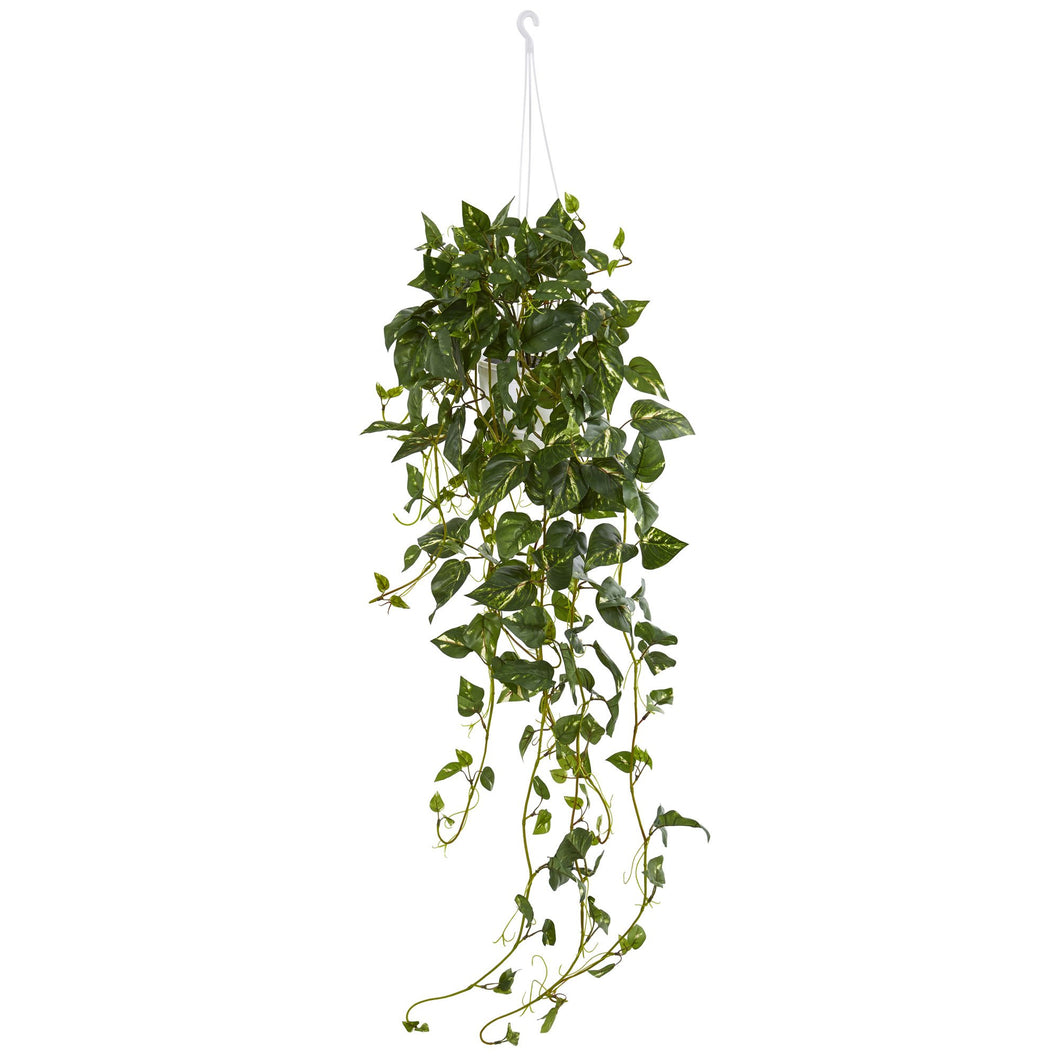 Pothos Hanging Basket Artificial Plant