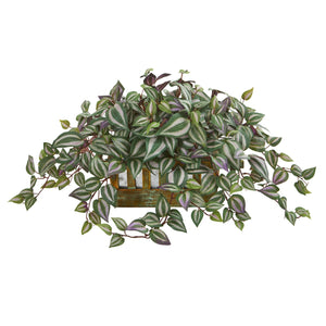 Wandering Jew Artificial Plant in Decorative Planter