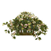 "Load image into Gallery viewer, 16"" Hoya Artificial Plant in Decorative Planter"
