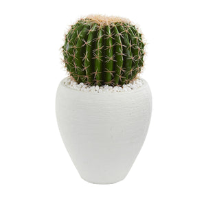 Cactus Artificial Plant in White Planter