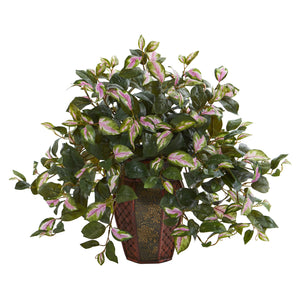 Hoya Artificial Plant in Decorative Planter