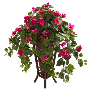Bougainvillea Artificial Plant in Stand Planter - Beauty