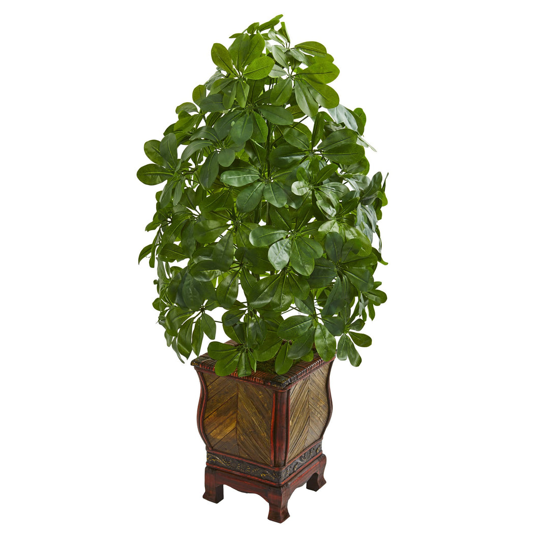 Schefflera Artificial Plant in Decorative Planter (Real Touch)