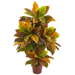 "39"" Croton Artificial Plant (Real Touch)"