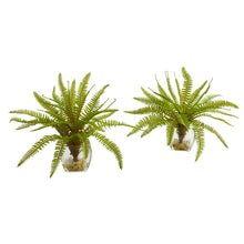 "Load image into Gallery viewer, 8"" Fern Artificial Plant in Vase (Set of 2)"