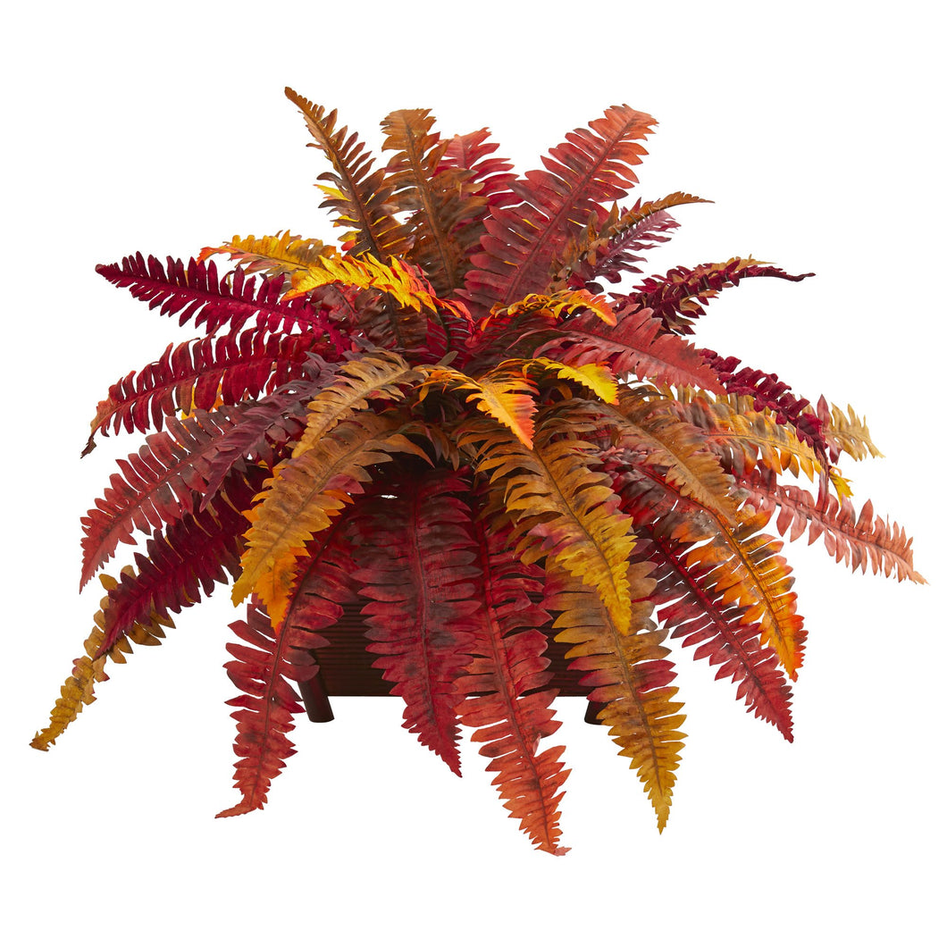 Autumn Boston Fern Artificial Plant in Planter