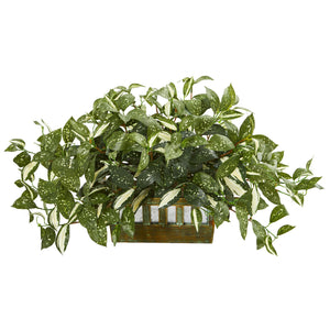 "15"" Florida Beauty Artificial Plant in Planter"
