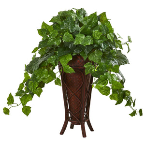 "32"" London Ivy Artificial Plant in Decorative Planter (Real Touch)"