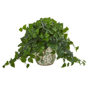 "23"" London Ivy Artificial Plant in Vase (Real Touch)"