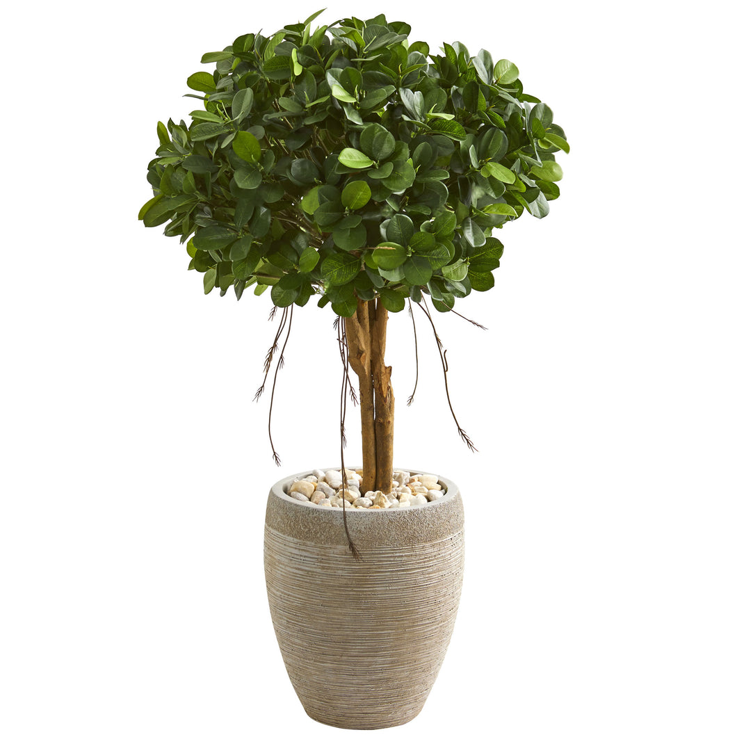 "39"" Ficus Artificial Tree in Sand Colored Planter"
