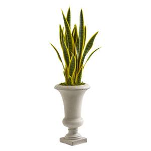 3' Sansevieria Artificial Plant in Urn