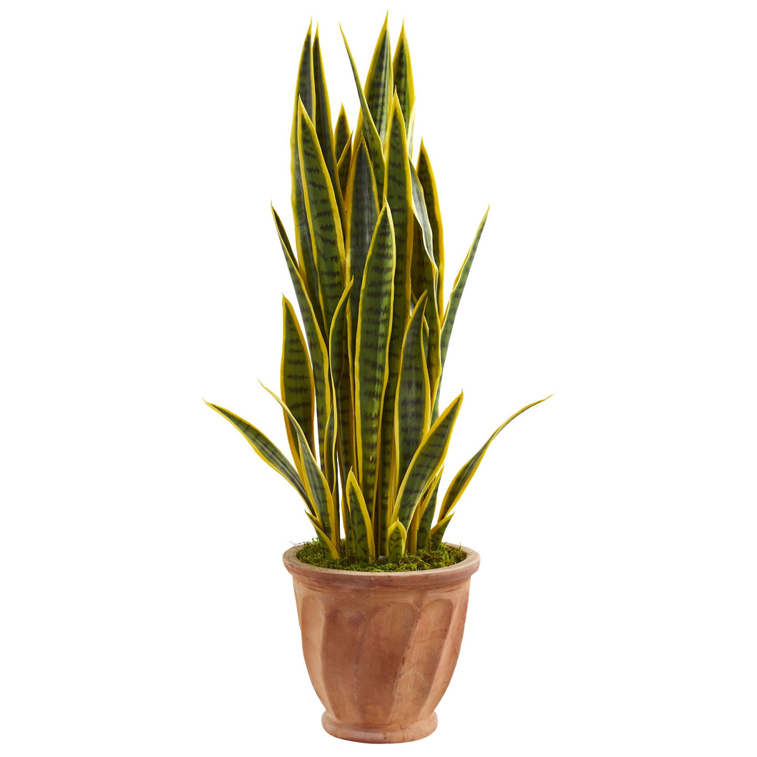 3' Sansevieria Artificial Plant in Terra Cotta Planter