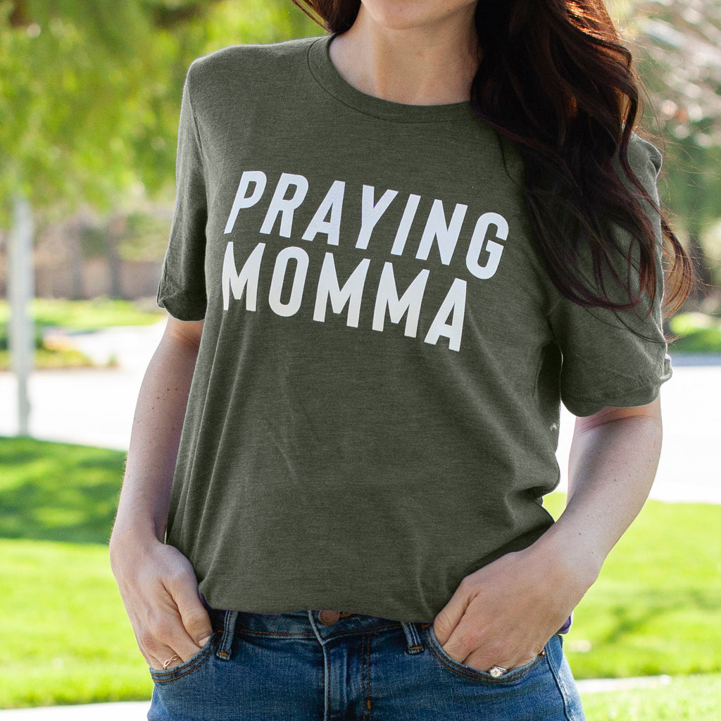 (PRE-ORDER) Praying Momma™️ T-Shirt | Military Green
