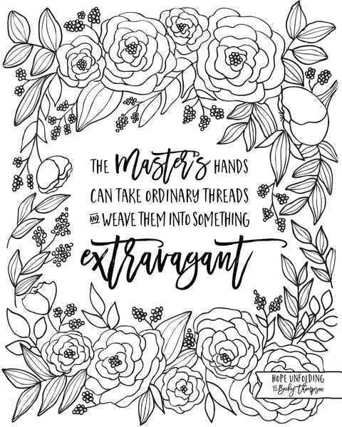 Hope Unfolding Coloring Page