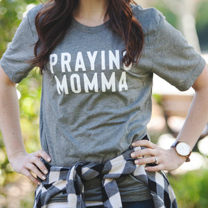 (PRE-ORDER) Praying Momma® T-Shirt | Gray