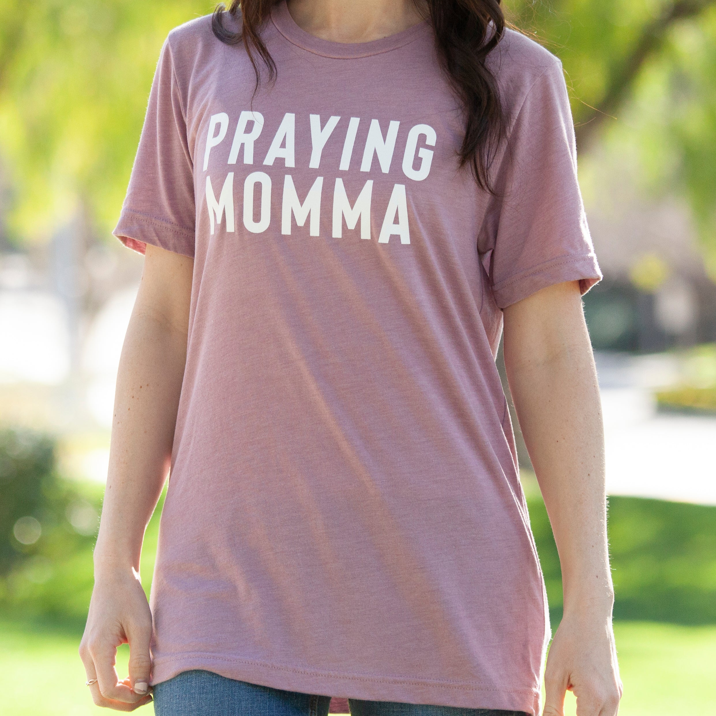 (PRE-ORDER) Praying Momma® T-Shirt | Orchid