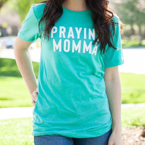 (PRE-ORDER) Praying Momma™️ T-Shirt | Sea Green