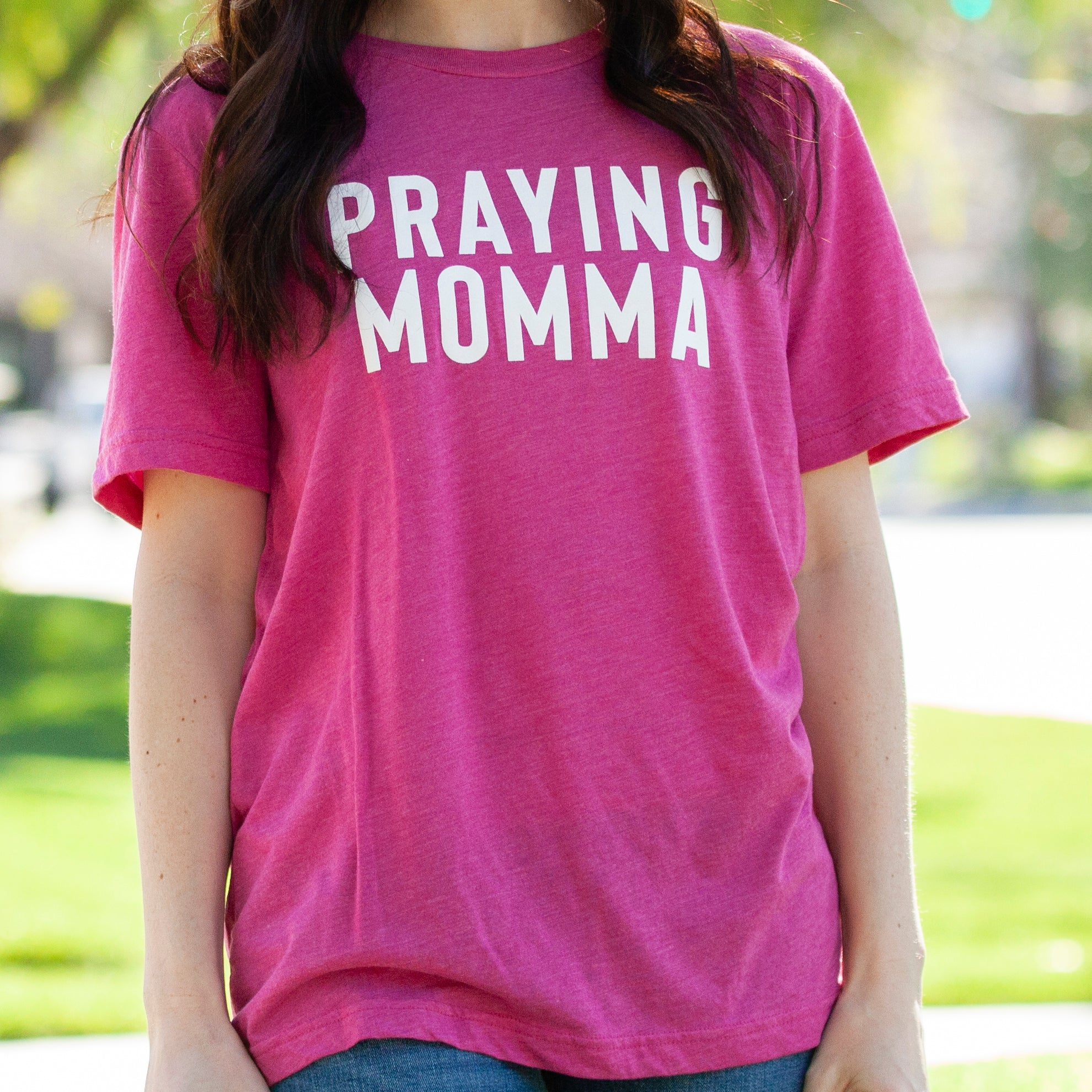 (PRE-ORDER) Praying Momma® T-Shirt | Berry