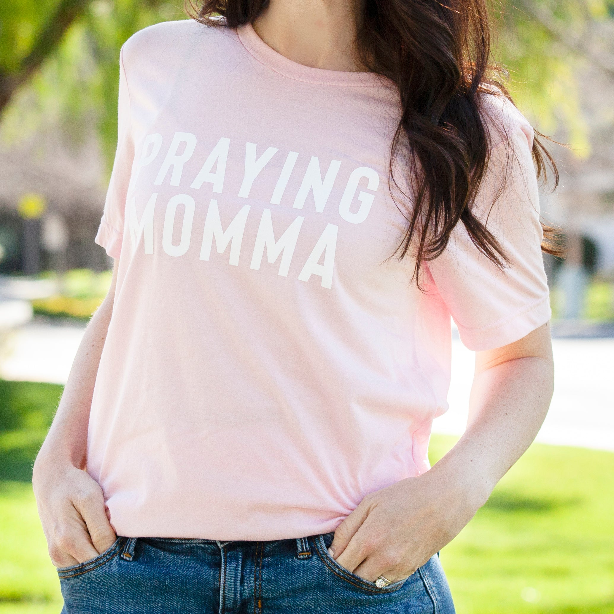 (PRE-ORDER) Praying Momma® T-Shirt | Pink