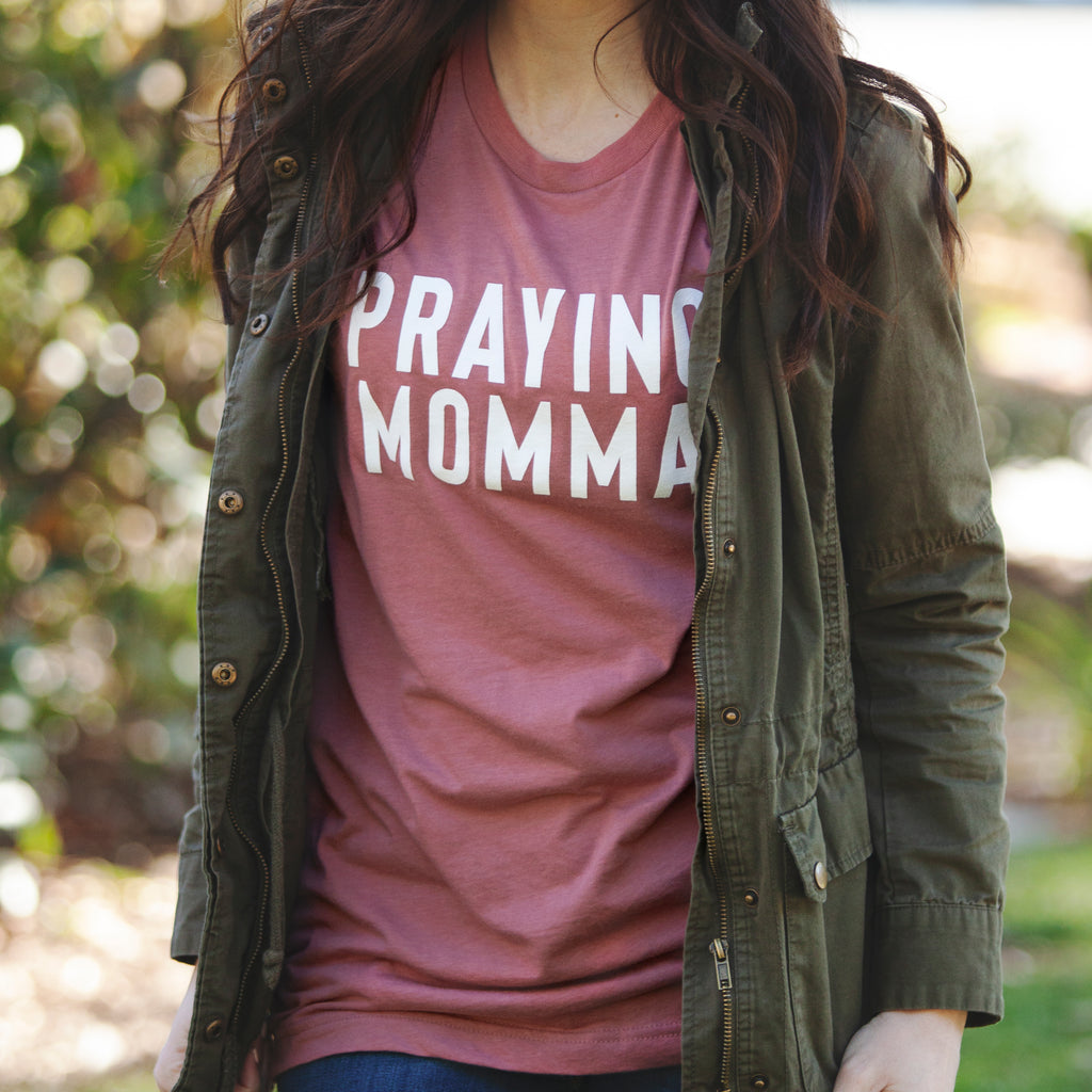 (PRE-ORDER) Praying Momma® T-Shirt | Mauve