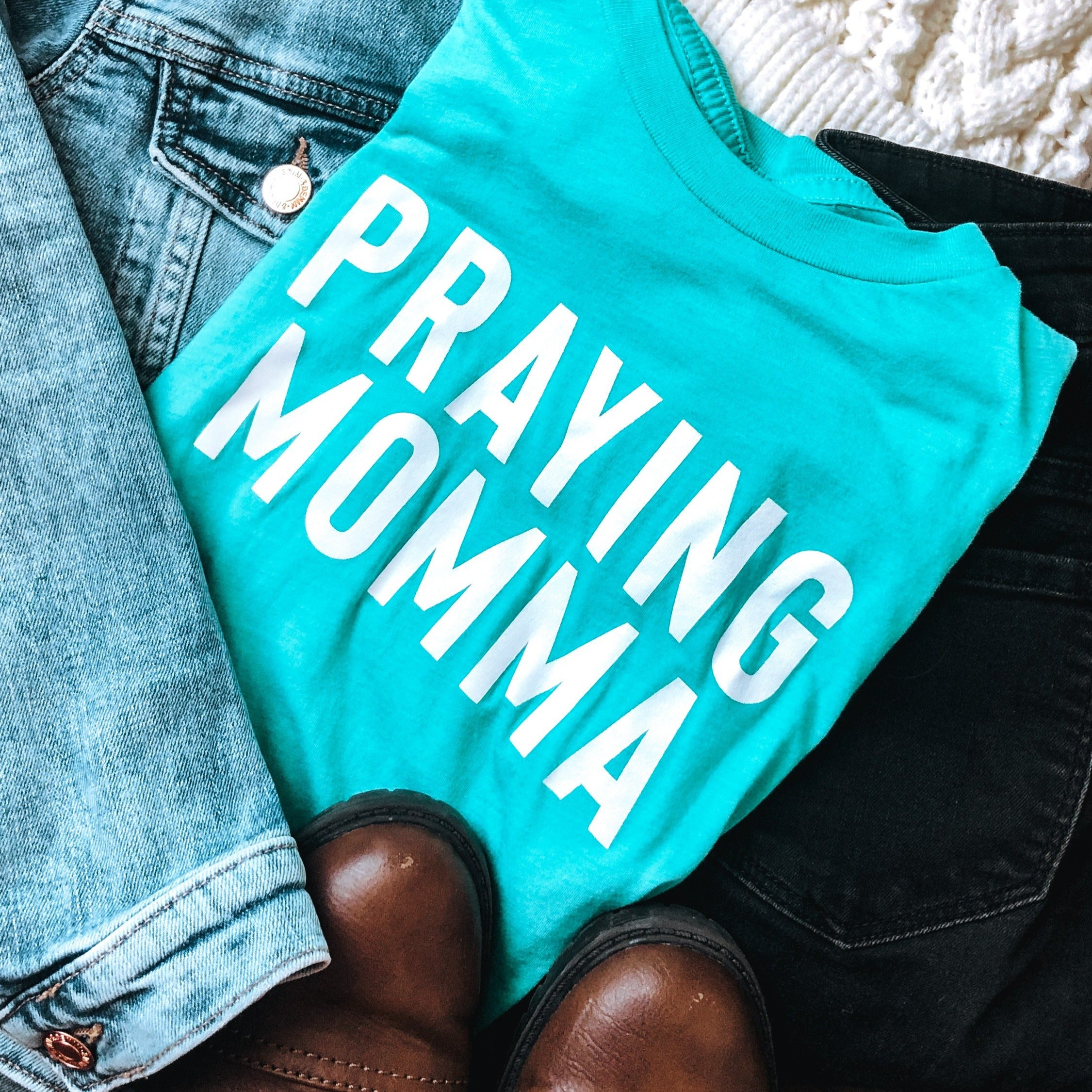 (PRE-ORDER) Praying Momma® T-Shirt | Sea Green