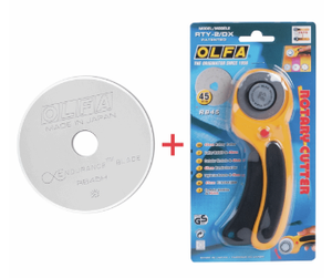 Olfa 50th Anniversary Deluxe Rotary Cutter + Endurance Blade