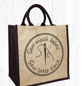 Sew Much Fabric Sewing Jute Bag