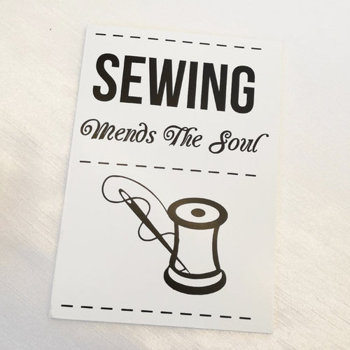 Sewing Mends The Soul Jotter