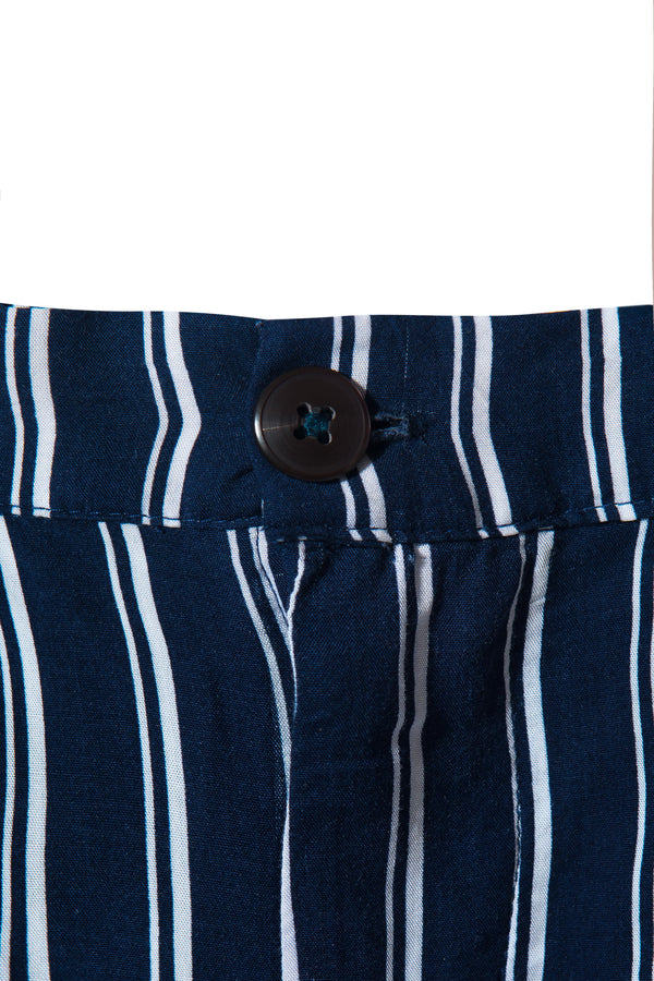 Ghazzali Navy White Stripes Pants