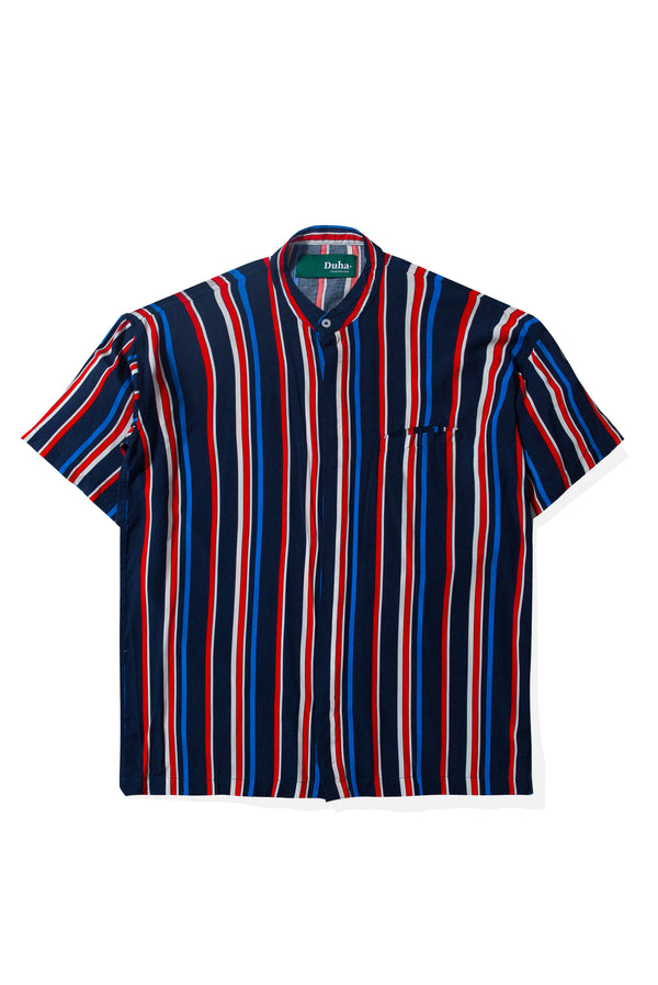 Rushd Navy Red Stripes Shirt (4165174329379)