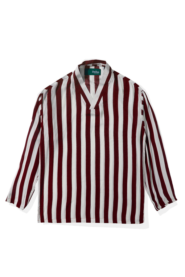 Khaldun Maroon Stripes Pull-over (4165177868323)
