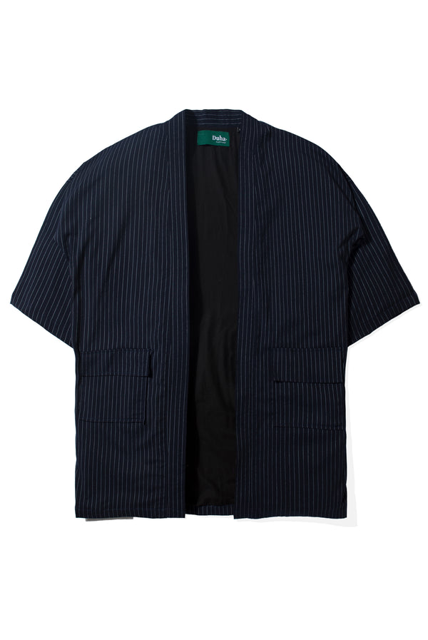 Arabi Navy White Stripes Robe