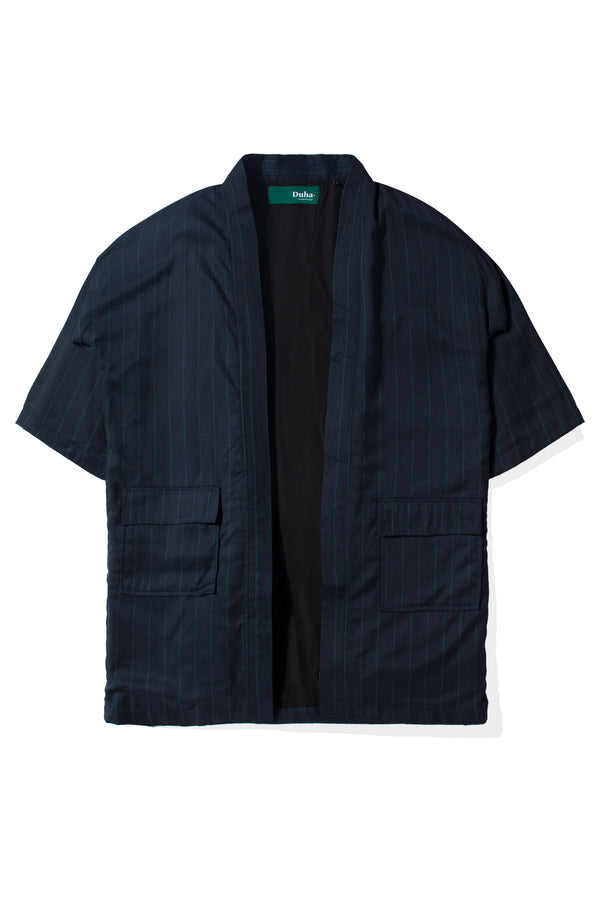 Arabi Navy Green Stripes Robe