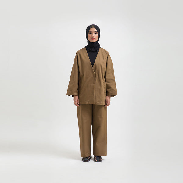 Adiva Brown Outer Wanita (5107218251820)