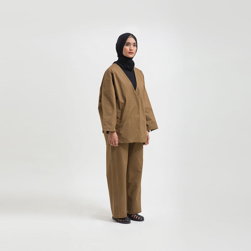 Maleeka Brown Pants Wanita (5107220512812)