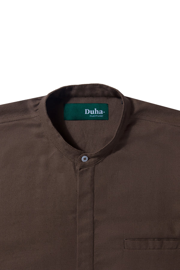 Rushd Brown Shirt (4165174296611)