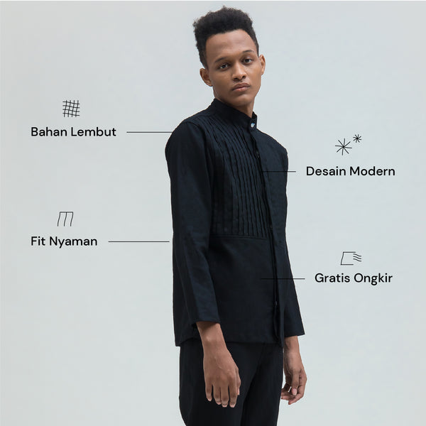 Harith Black Long Sleeve Pria (5107143770156)
