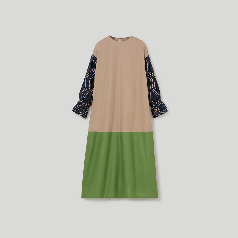 Sherine Alma Dress Khaki - Green Wanita (5155895869484)