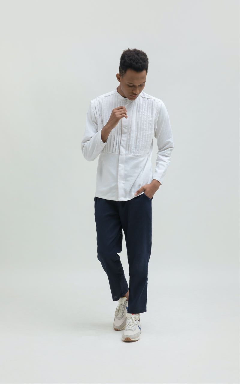 Harith White Long Sleeve Pria (5107143508012)