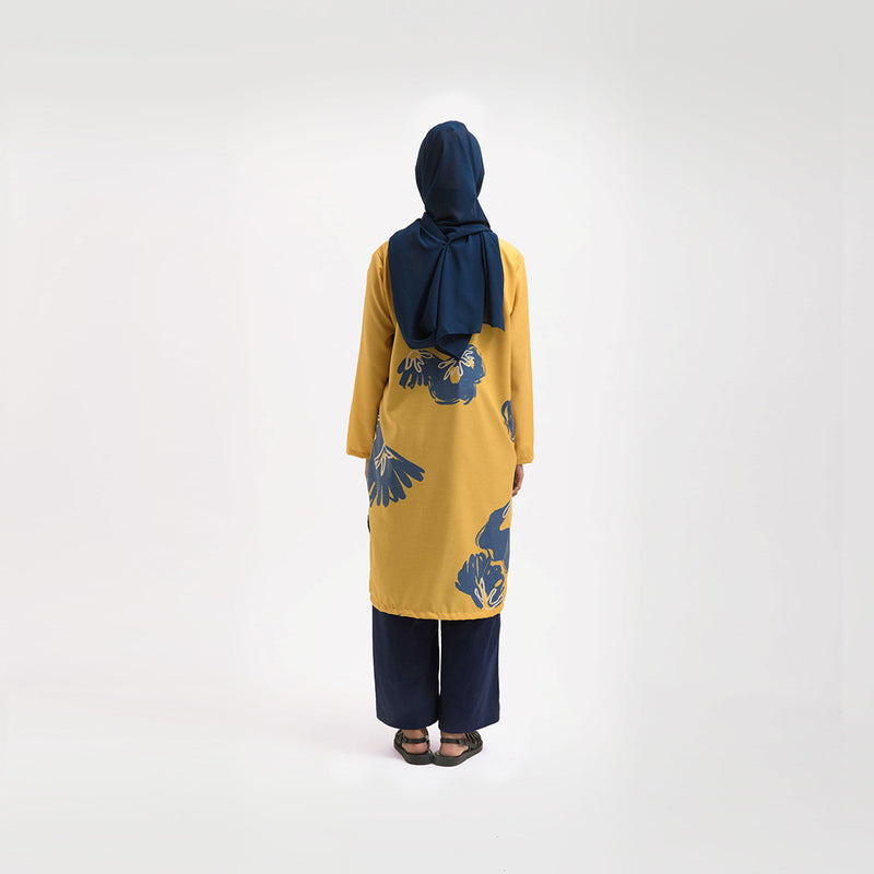 Shaheen Warda Yellow Dress Wanita (5107223724076)