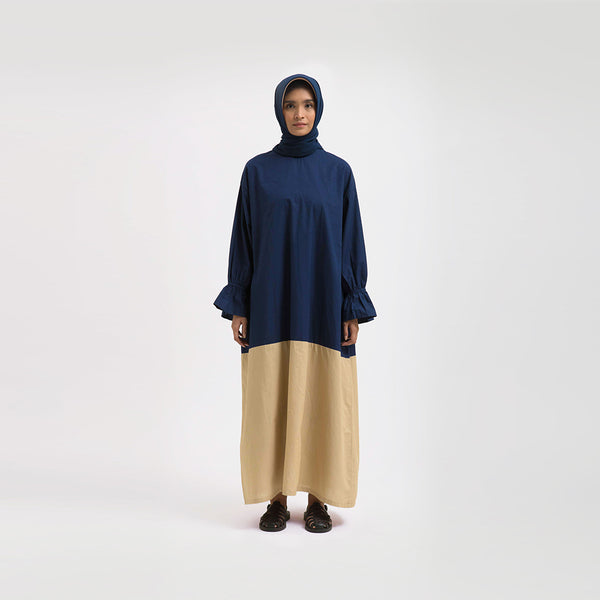 Tanisha Navy - Khaki Dress Wanita (5107218972716)