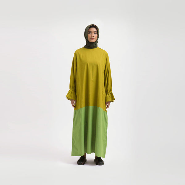 Tanisha Sahara - Green Dress Wanita (5107219497004)