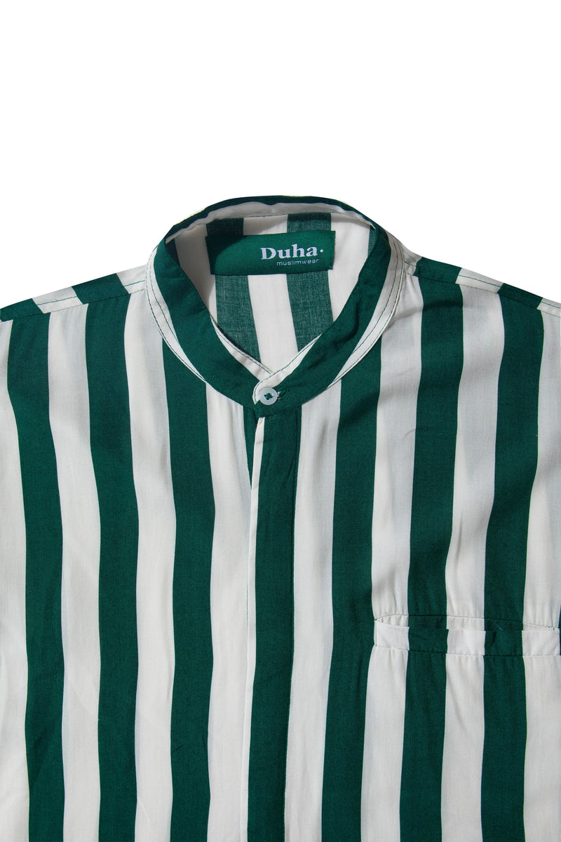 Rushd Green Stripes Shirt (4165150605347)