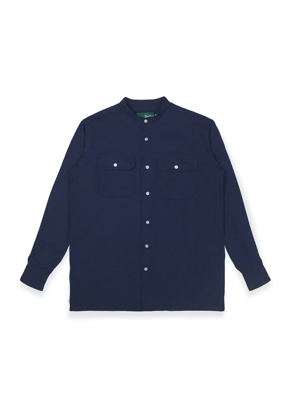 Qazvin Navy Stand Collar Long Sleeve (4480811827244)
