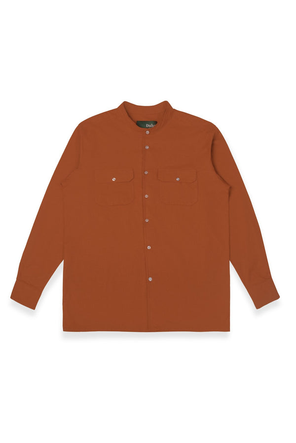 Qazvin Terracota Stand Collar Long Sleeve (4480811794476)
