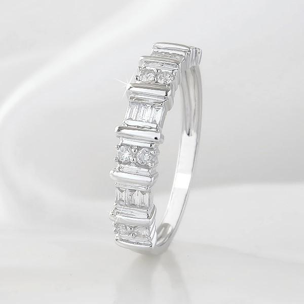 Bague VERTIGE or blanc